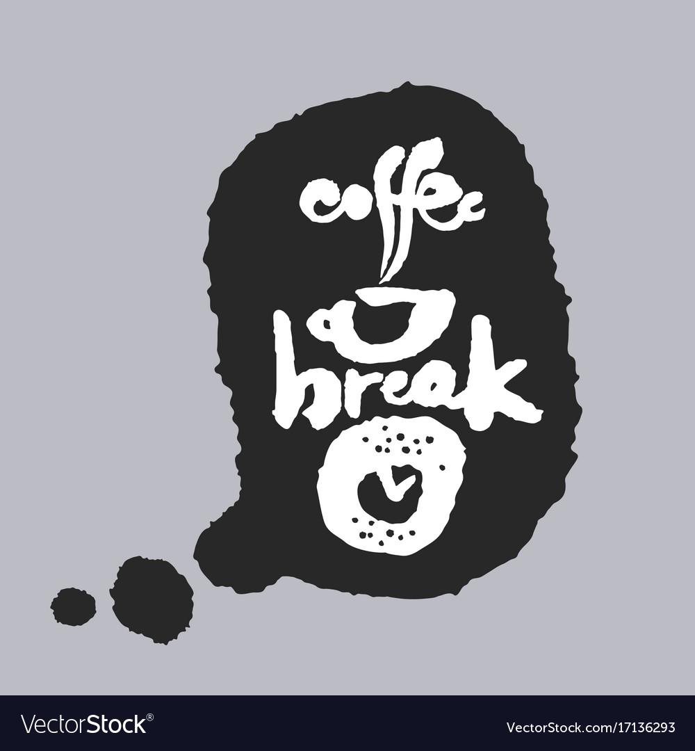 Coffee break in a speech bubble