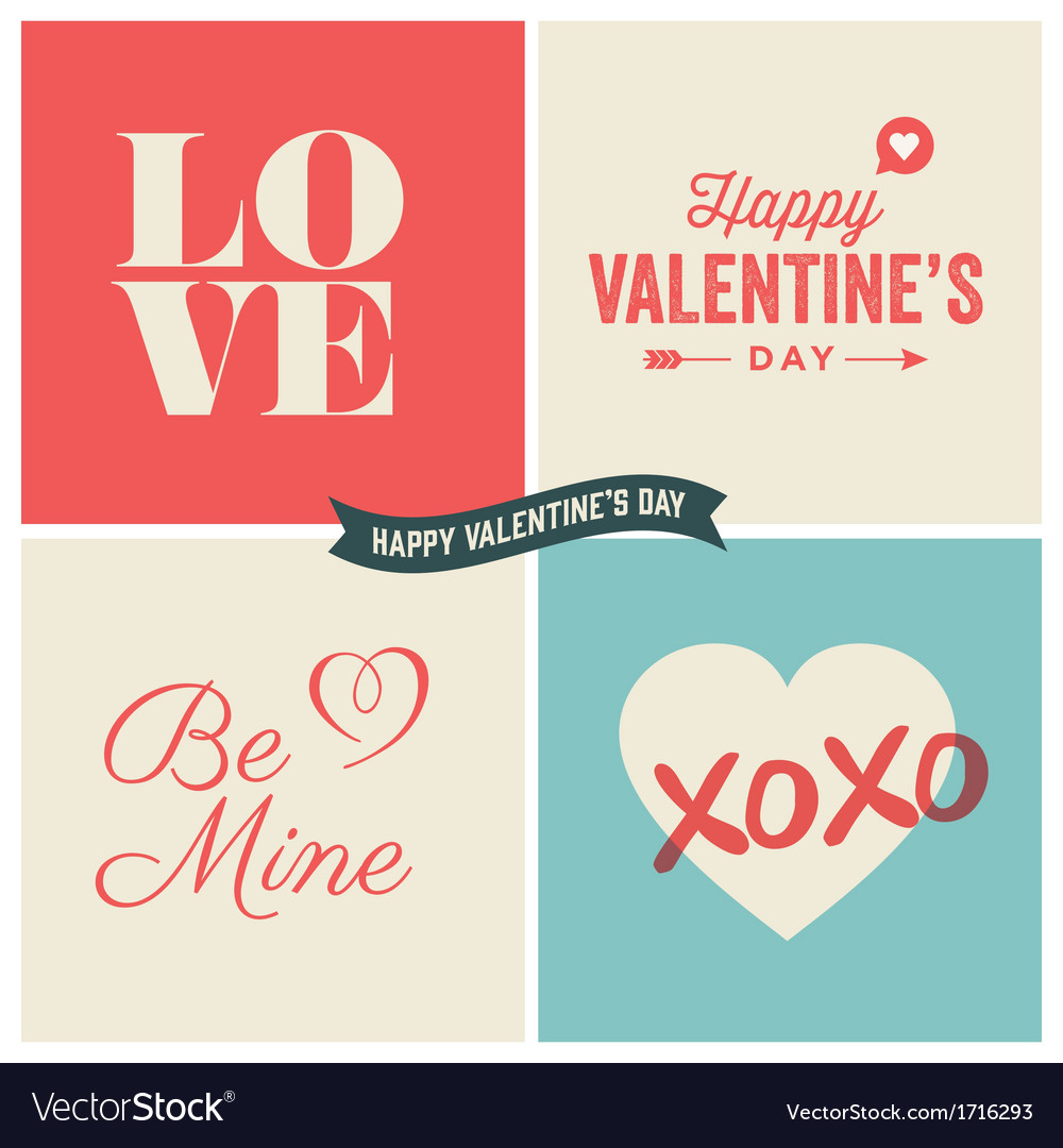 Design elements valentine day set two