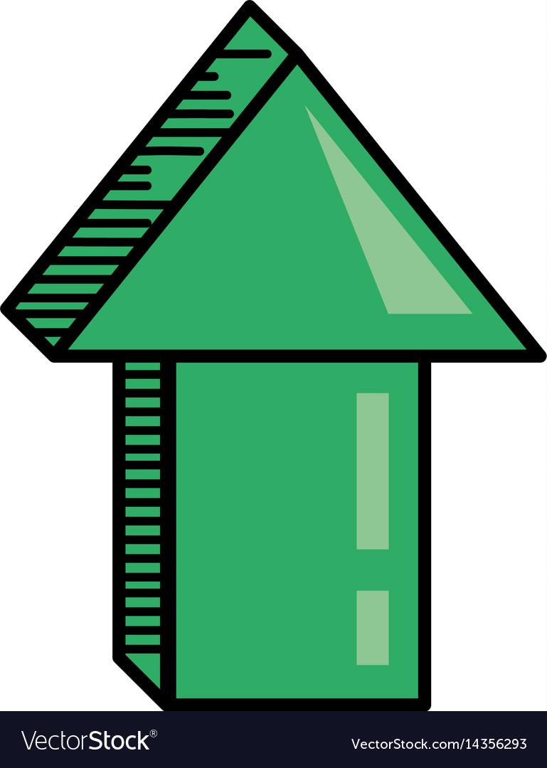 Green arrow digital orientation