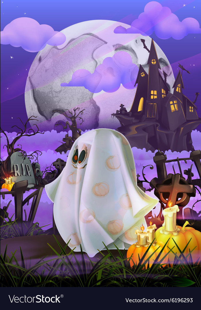 Happy Halloween invitation vector image