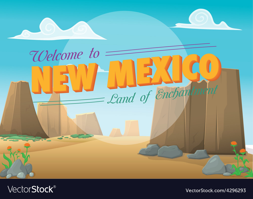 New New Mexico postcard Royalty Free Vector Image - VectorStock WG61