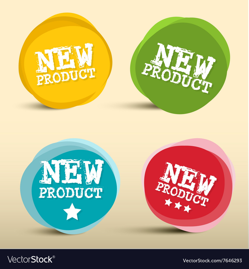 New Product Colorful Circles Labels Set