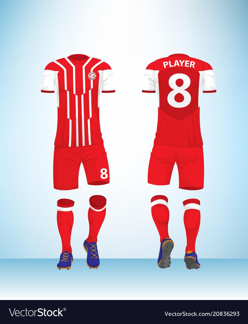 Red football t-shirt mock up