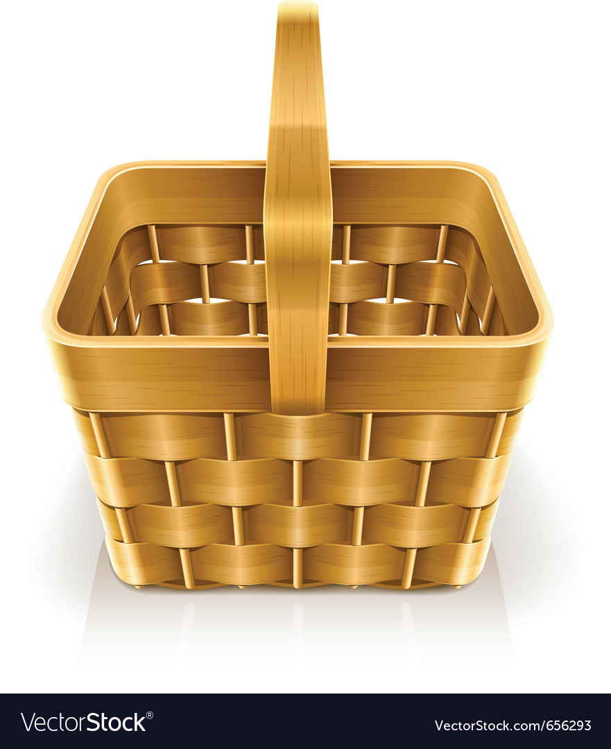Wooden weave basket