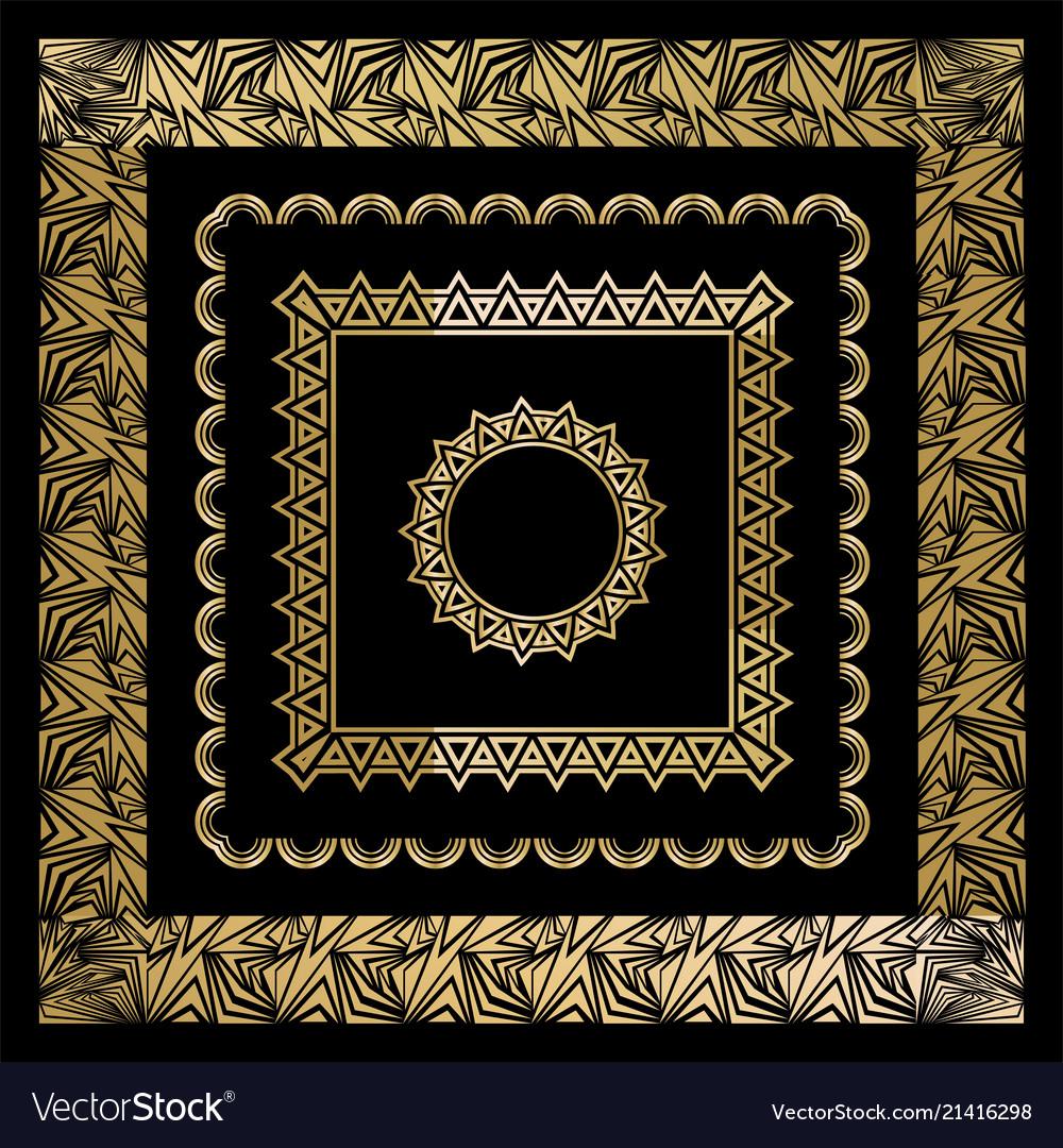 Art deco art nuevo geometric frames triangles