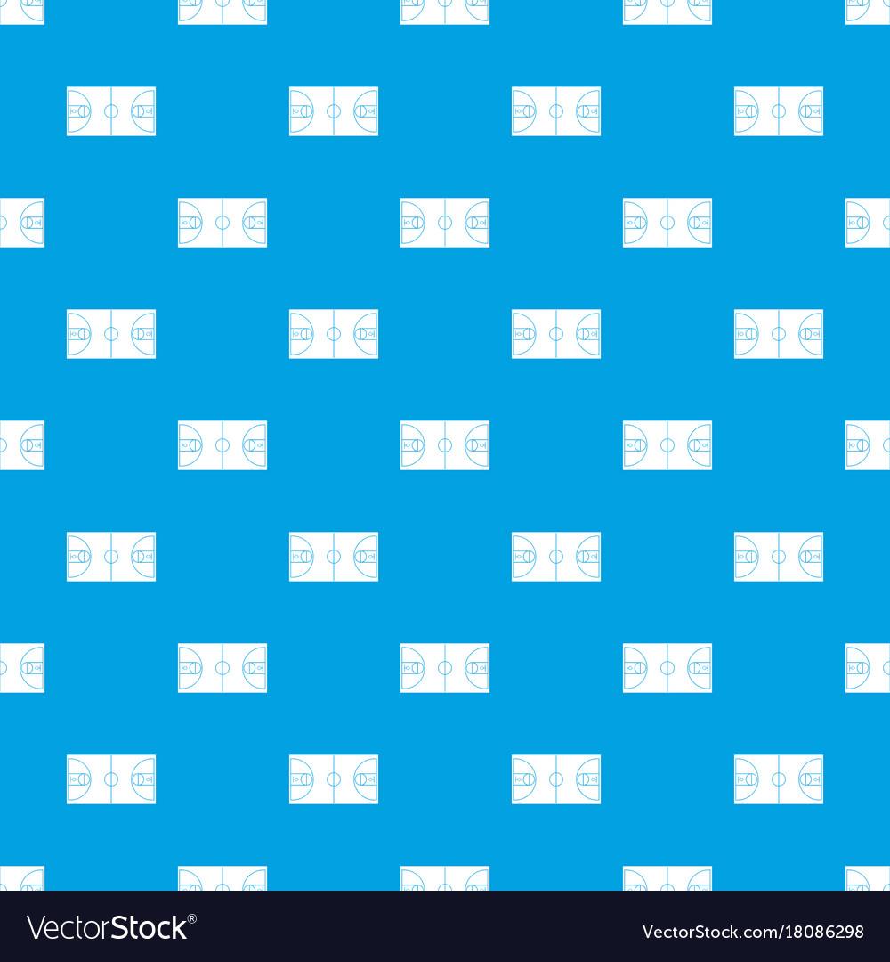 Basketball field pattern seamless blue vector image