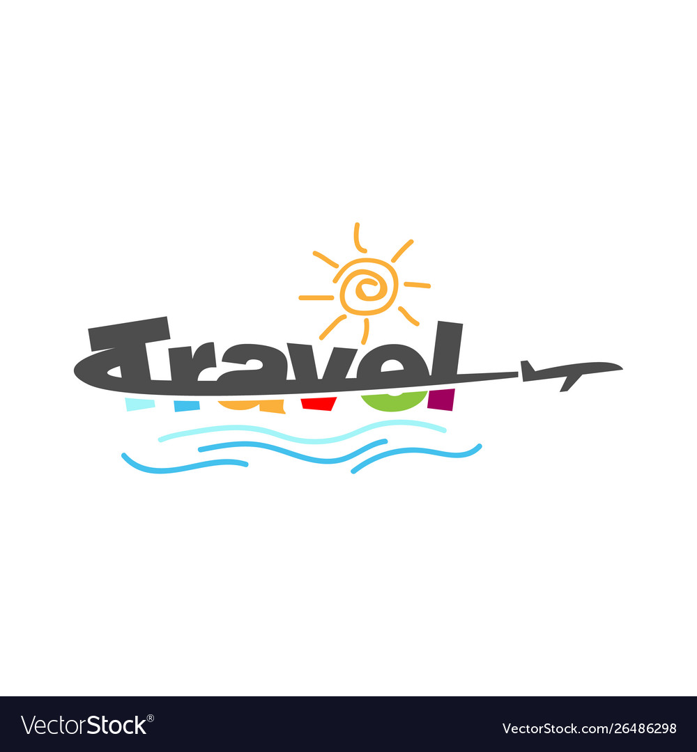 Creative travel typography logo design image
