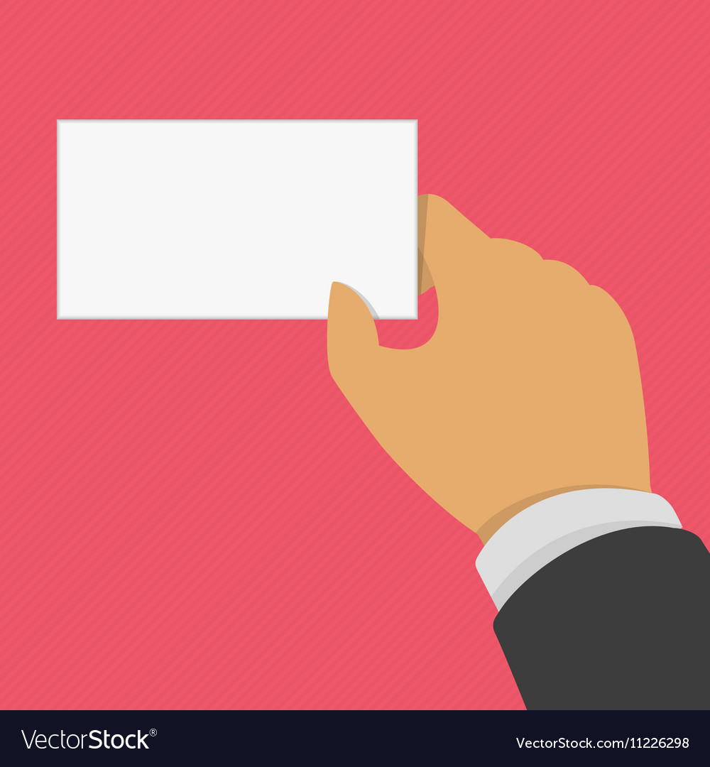 Hand holding business card royalty free vector image hand holding business card vector image colourmoves