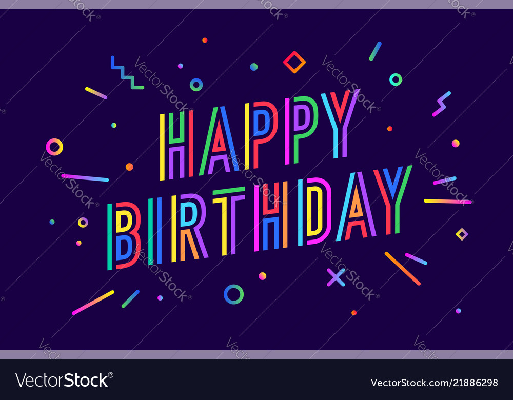 Happy birthday greeting card banner poster and