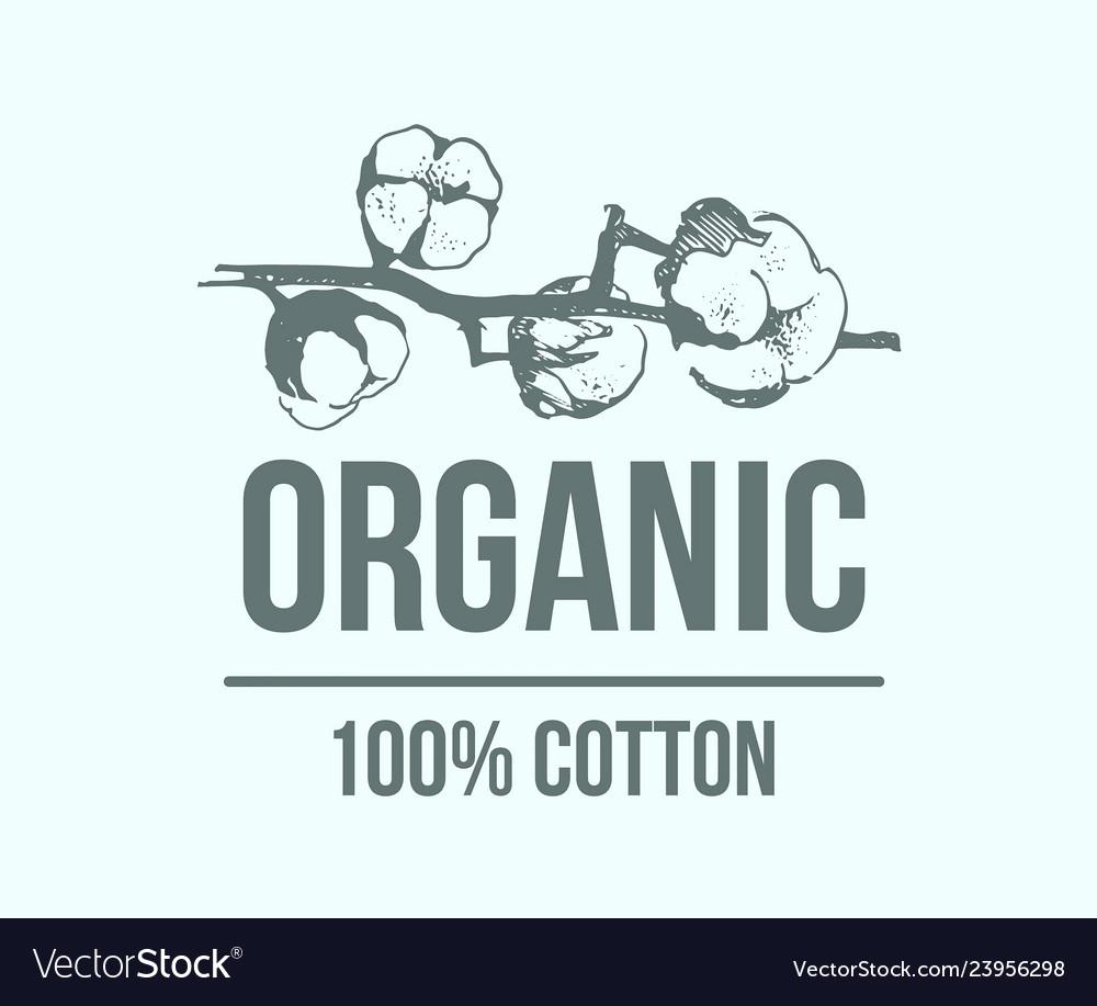 Natural organic cotton pure cotton labels