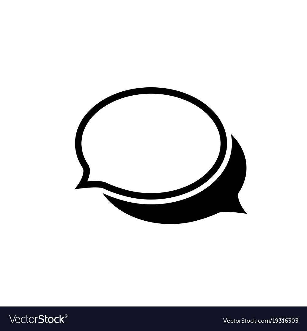 Chat icon in flat style communication chat bubble vector image