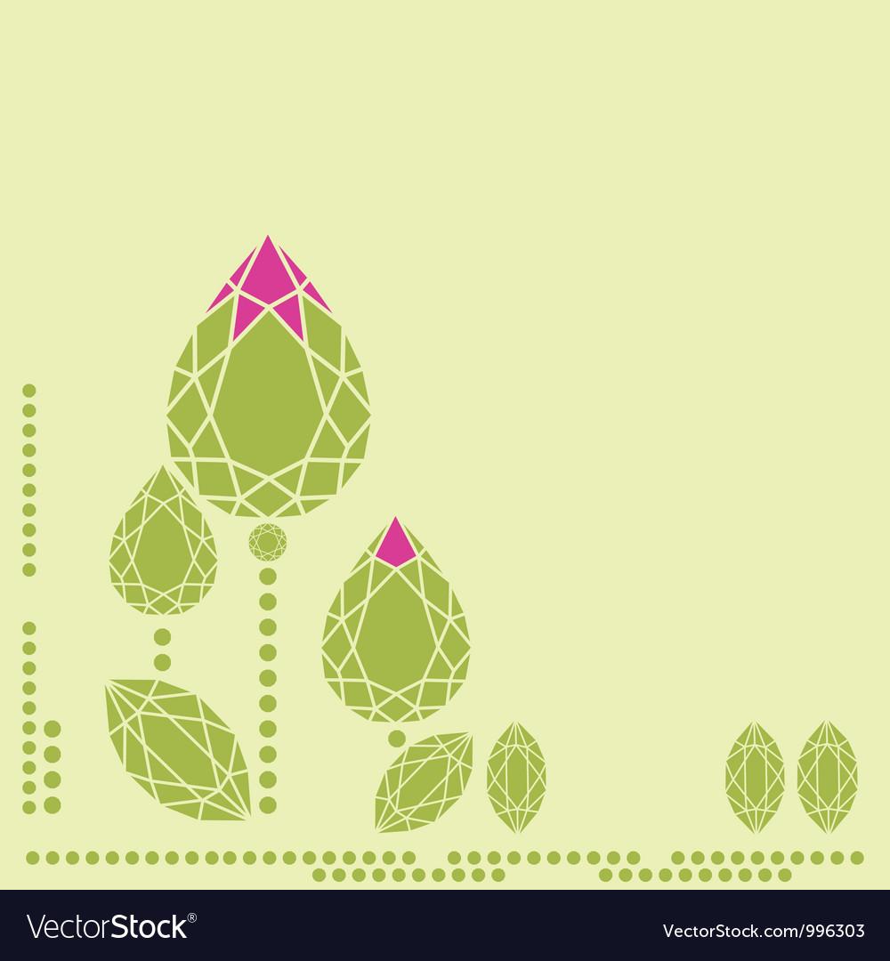 Doamonds flower 1 vector image