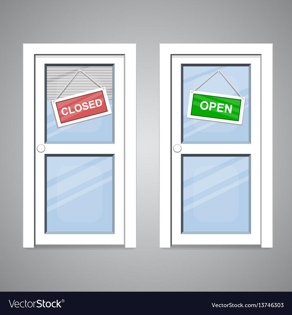 Doors open closed