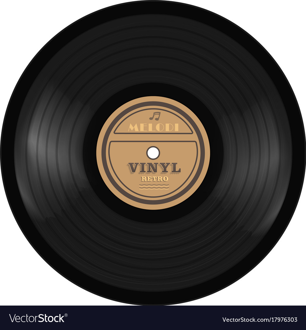 Gramophone vinyl lp record old technology vector image
