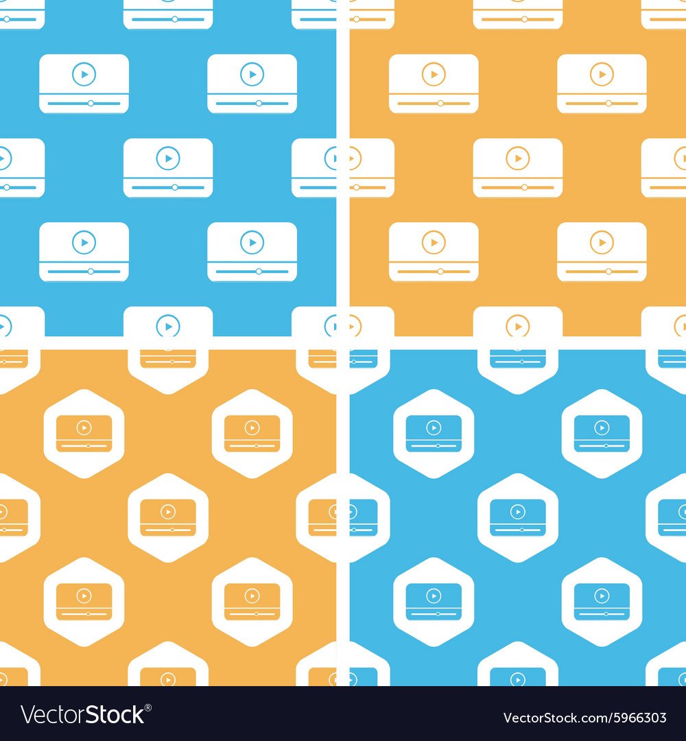 Mediaplayer window pattern set colored