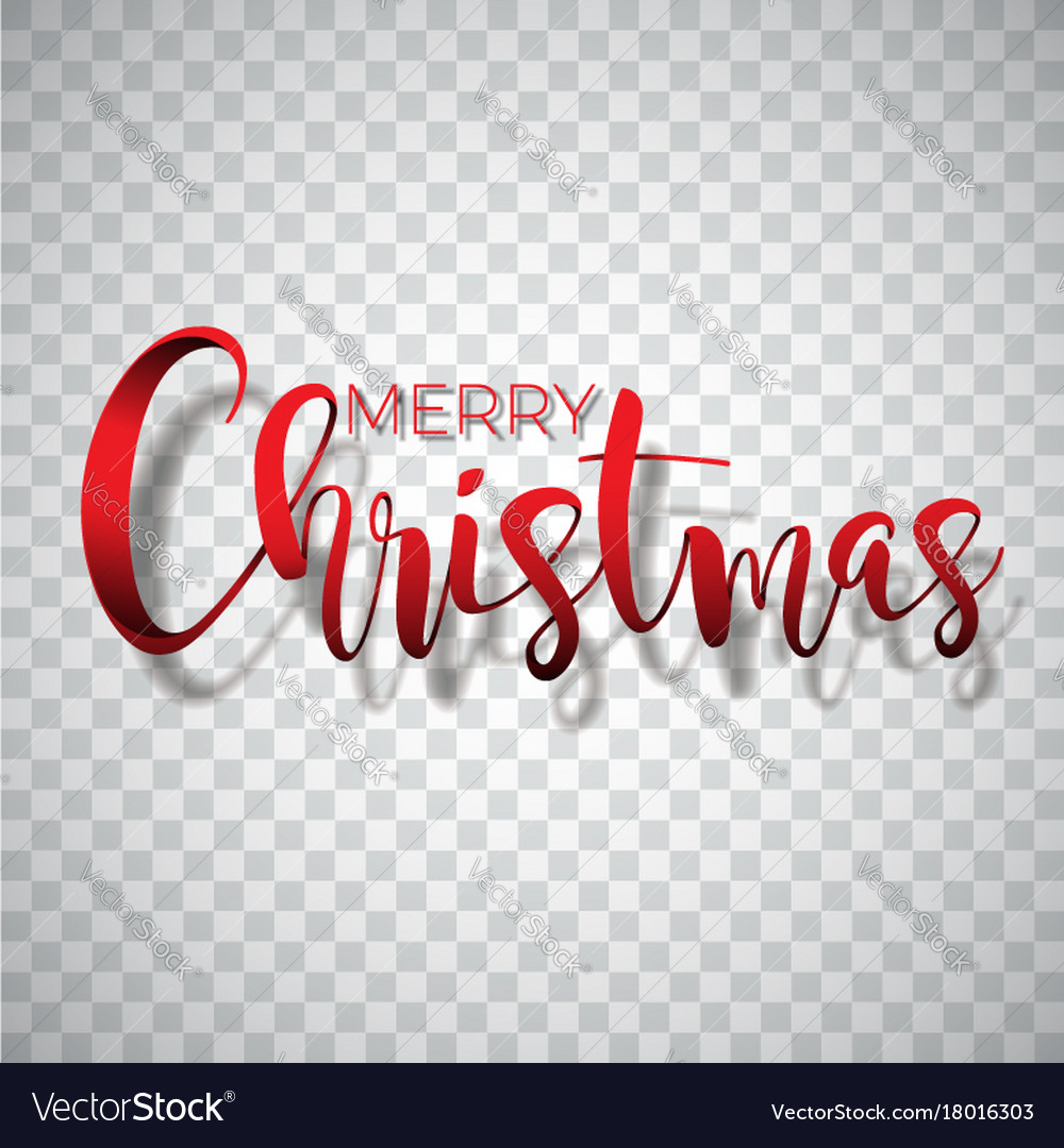 Merry christmas typography on a
