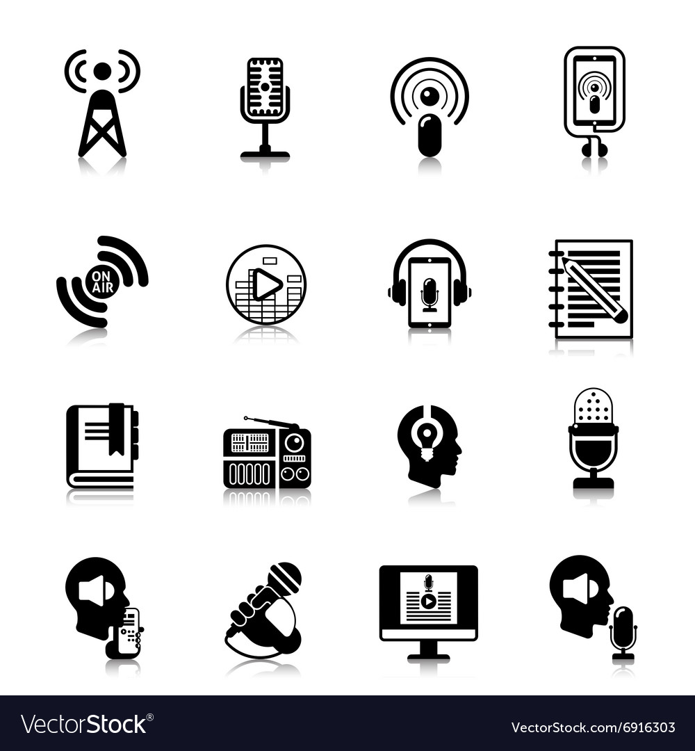 Podcast Black Icons Channel Concept