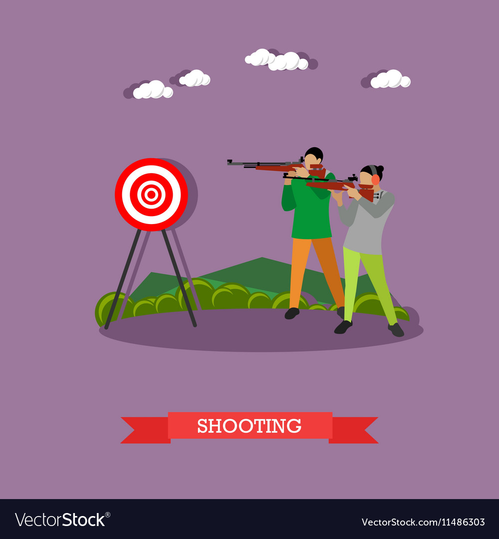 Sport shooting range banner Competition games