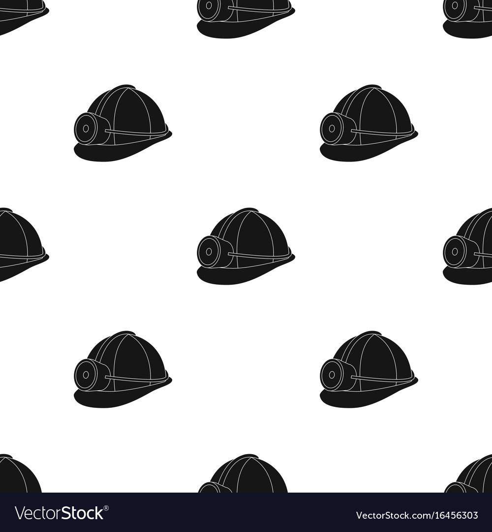 The helmet of a miner with a flashlightgear