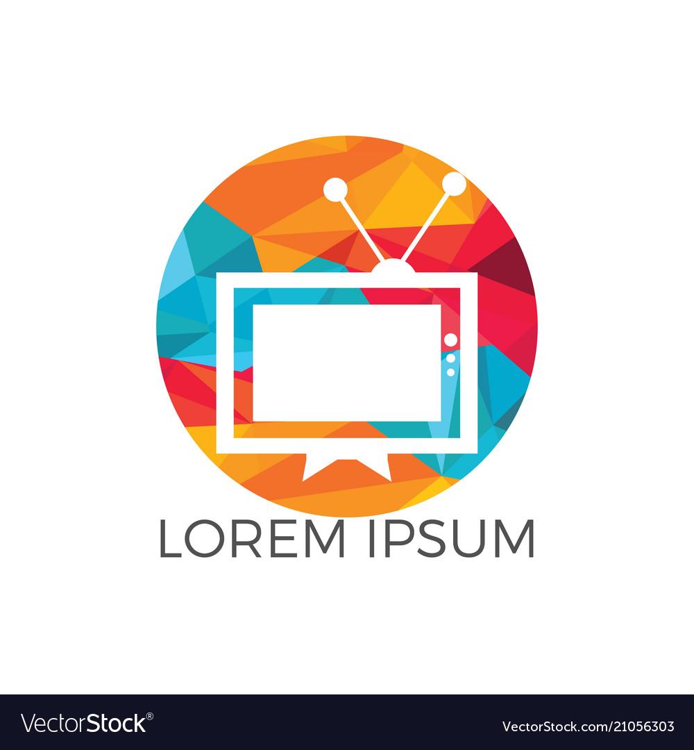 Tv logo design template