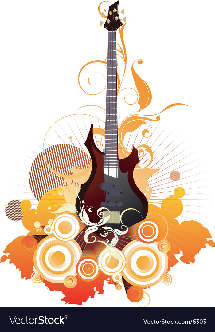 Urban guitar graphic