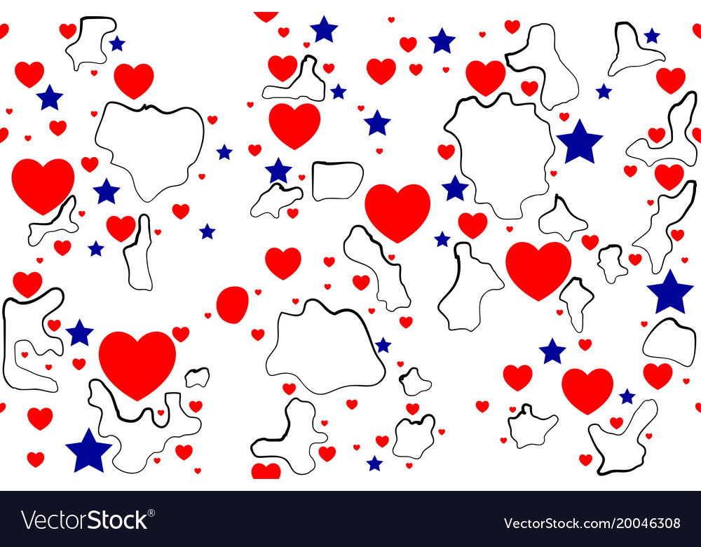 Abstract seamless background heart shape and star