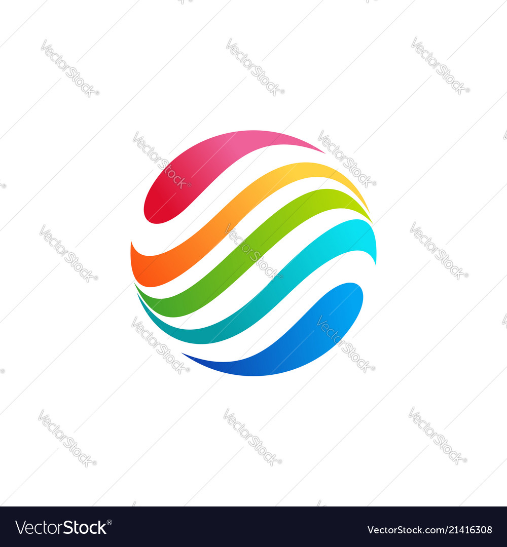 Abstract sphere circle droplet logo symbol icon