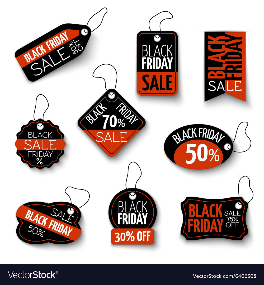 Black friday sales tag and banners