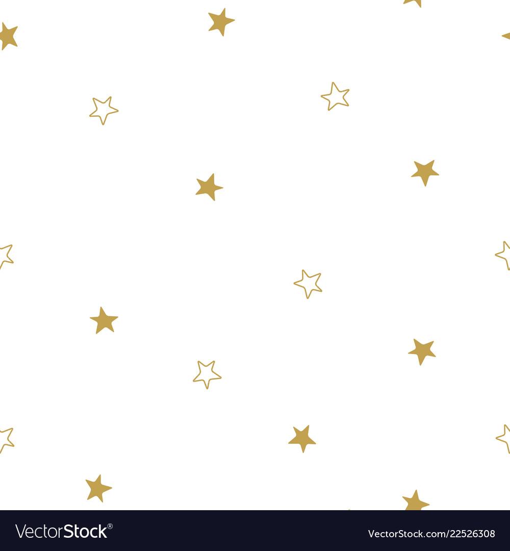 Christmas stars seamless pattern stars on white
