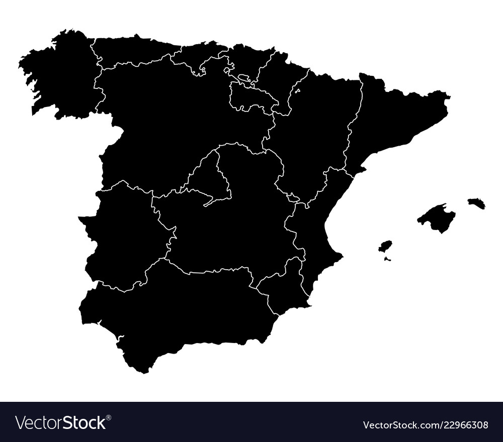 Map Of Spain Download Free.Map Of Spain Royalty Free Vector Image Vectorstock