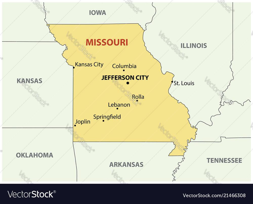 Missouri - map vector image