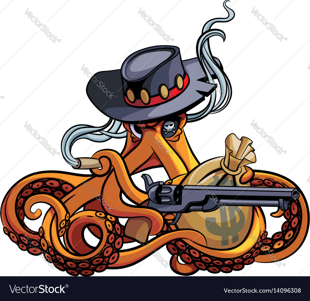f073218d98c Octopus the outlaw vector image