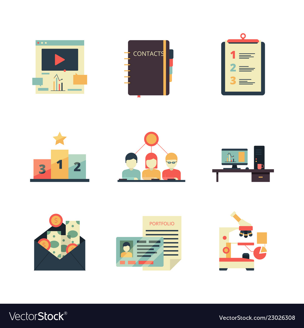 Project management icon business product planning
