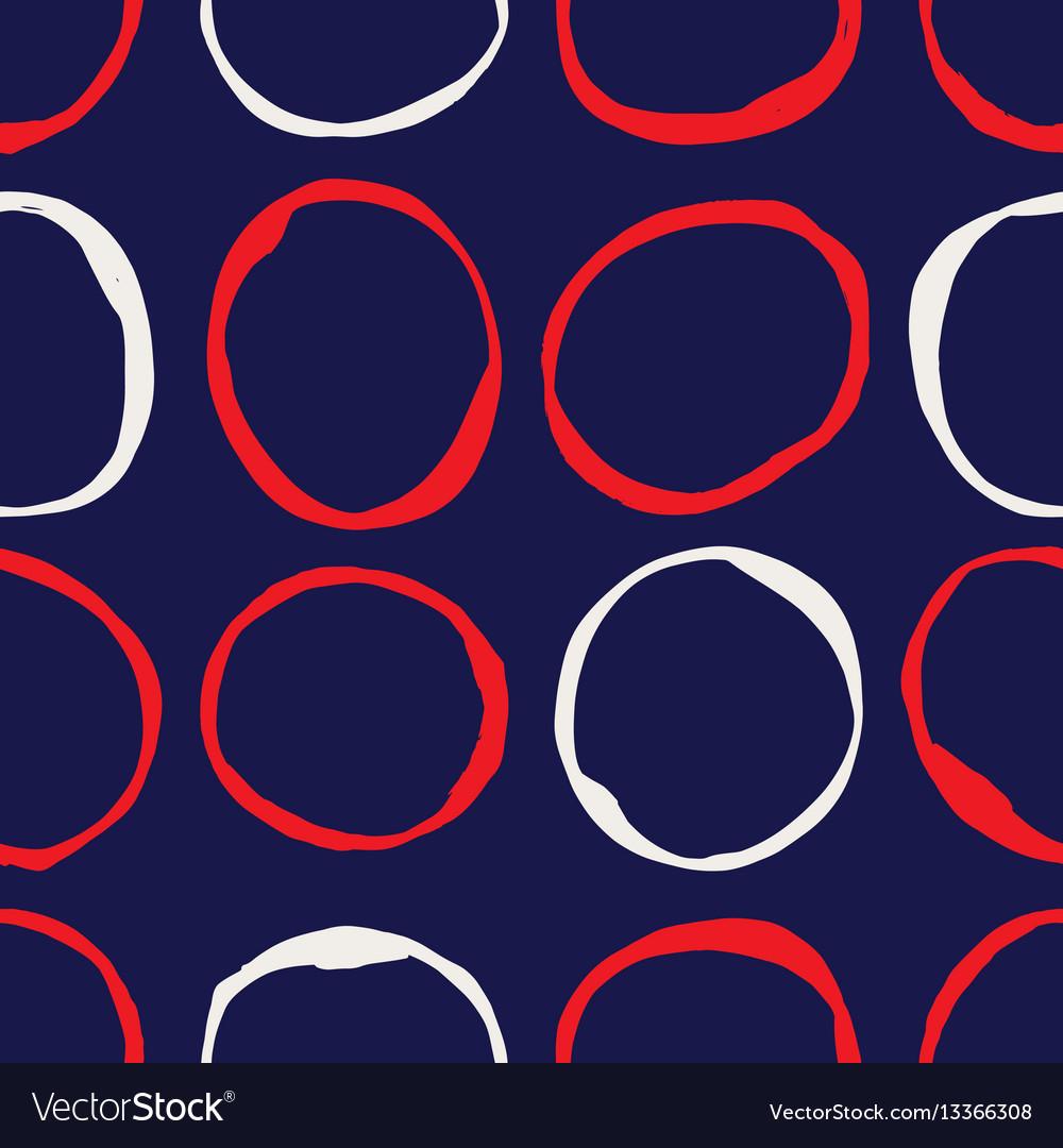 Sketchy circles seamless pattern