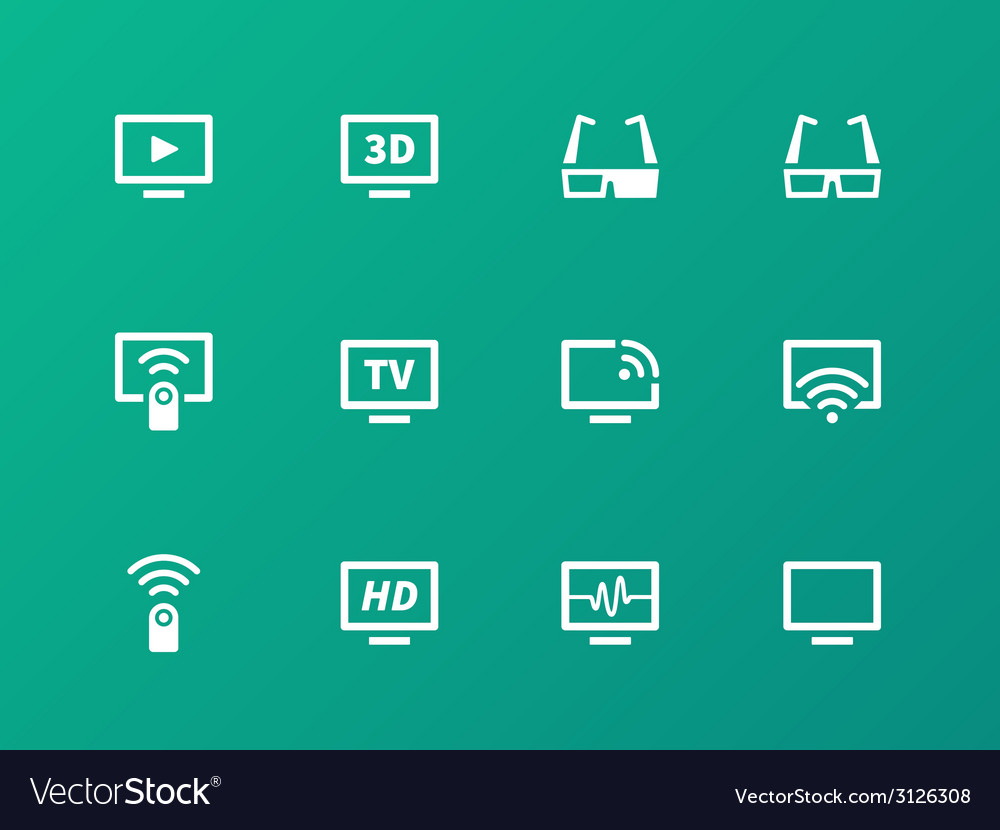 TV icons on green background