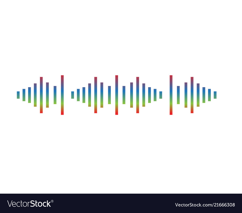 Wave Music Note Symbols Logo And Icons Royalty Free Vector