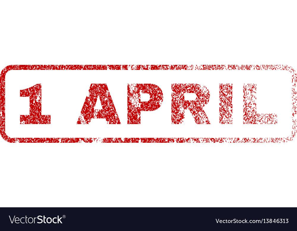 1 april rubber stamp
