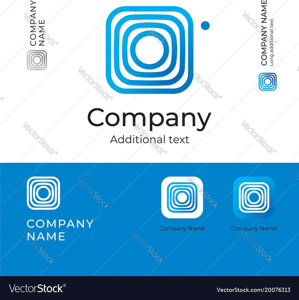 Abstract digital modern logo business identity