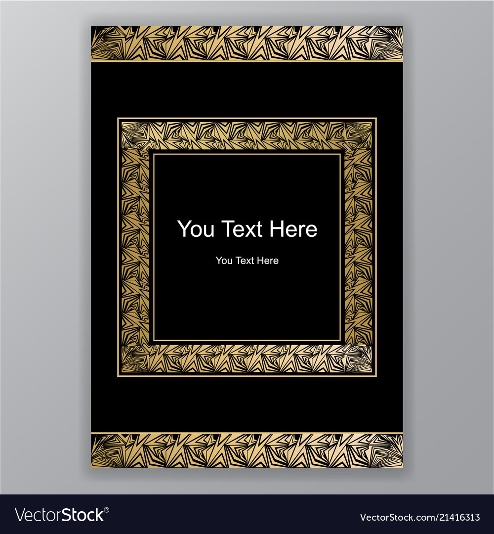 Elegant art deco page design menu decoration