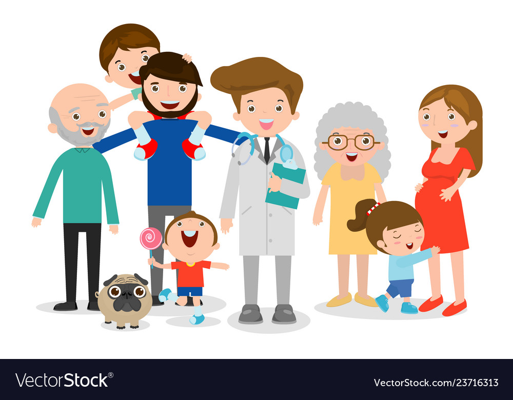 Family doctor big family