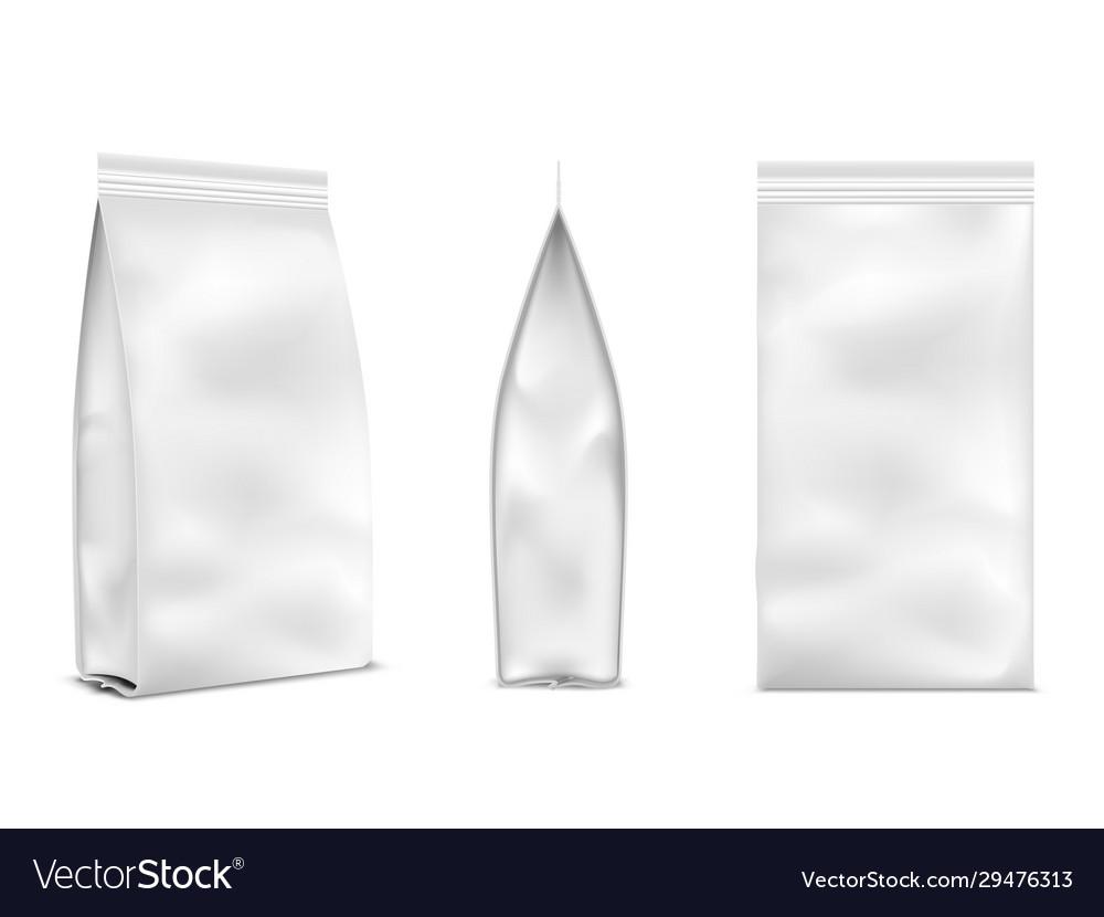 Food bag mockup white empty product design