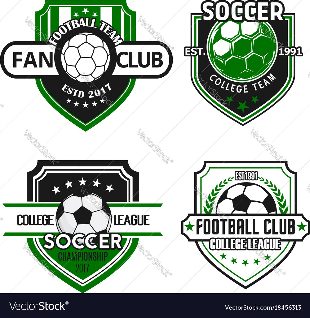 Icons for soccer team football fan club