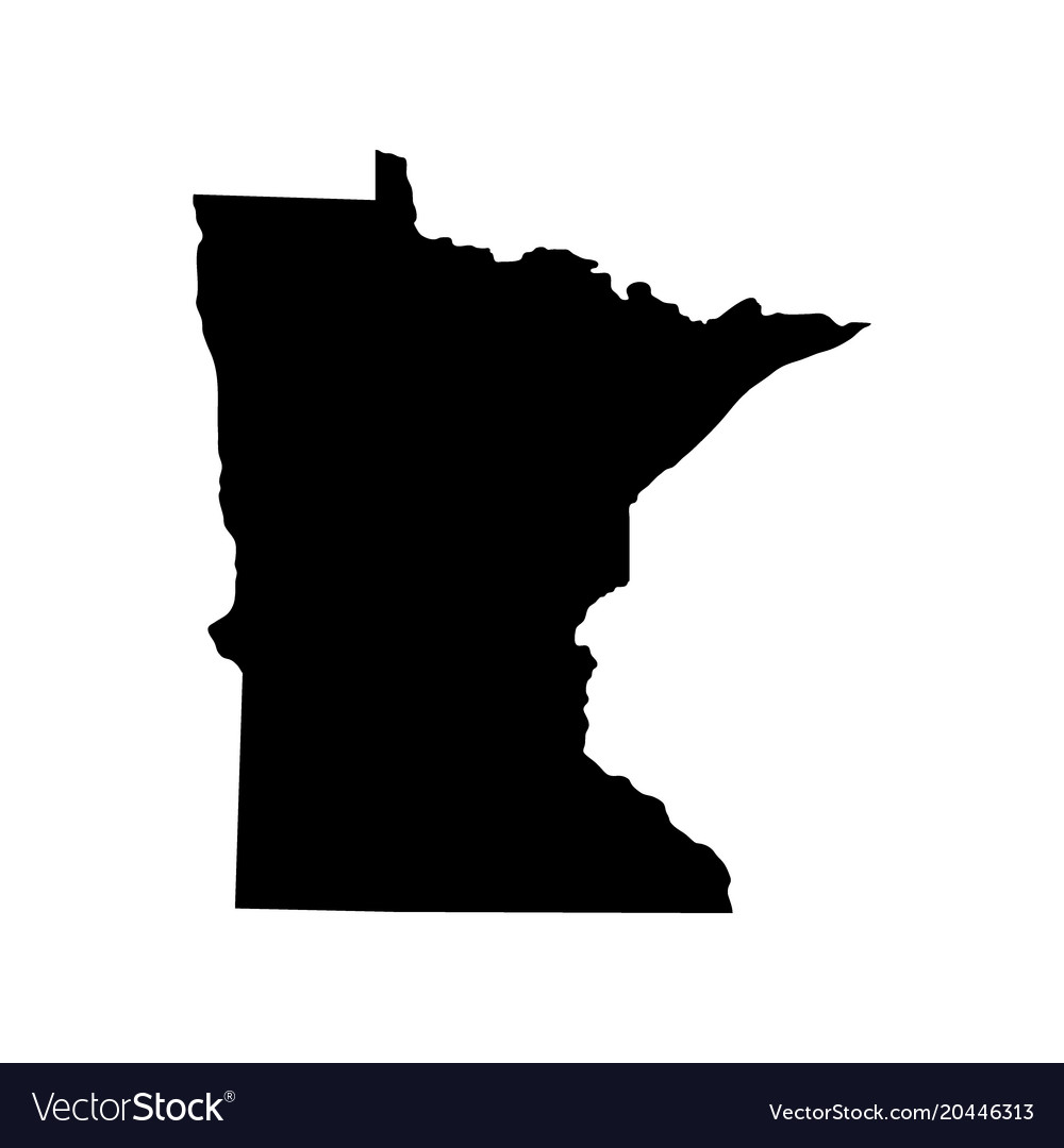 Marvelous Map Of The Us State Of Minnesota Vector Image