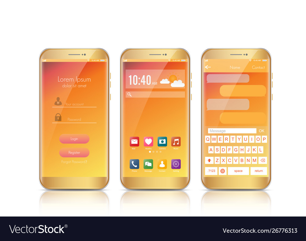 New realistic mobile smartphone modern style