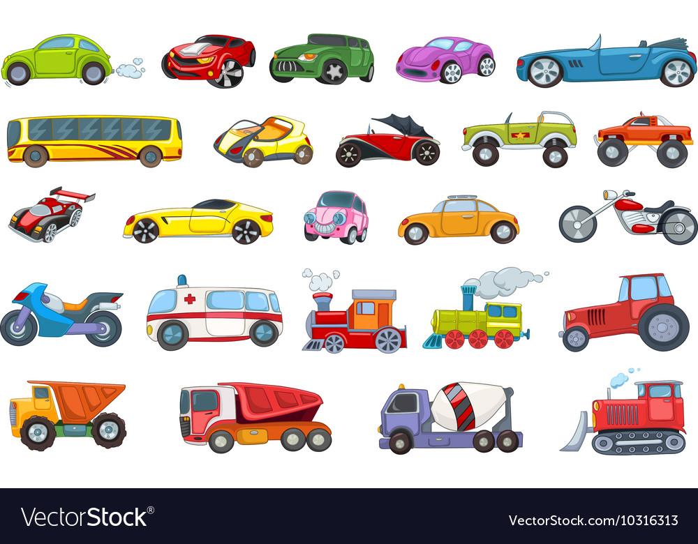 Set of transport vehicles vector image