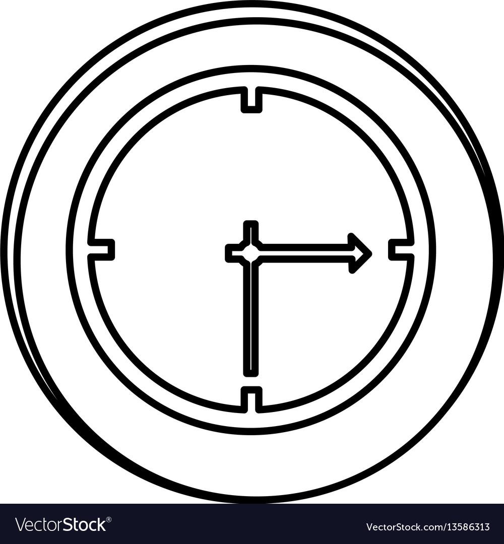 Silhouette symbol clock icon