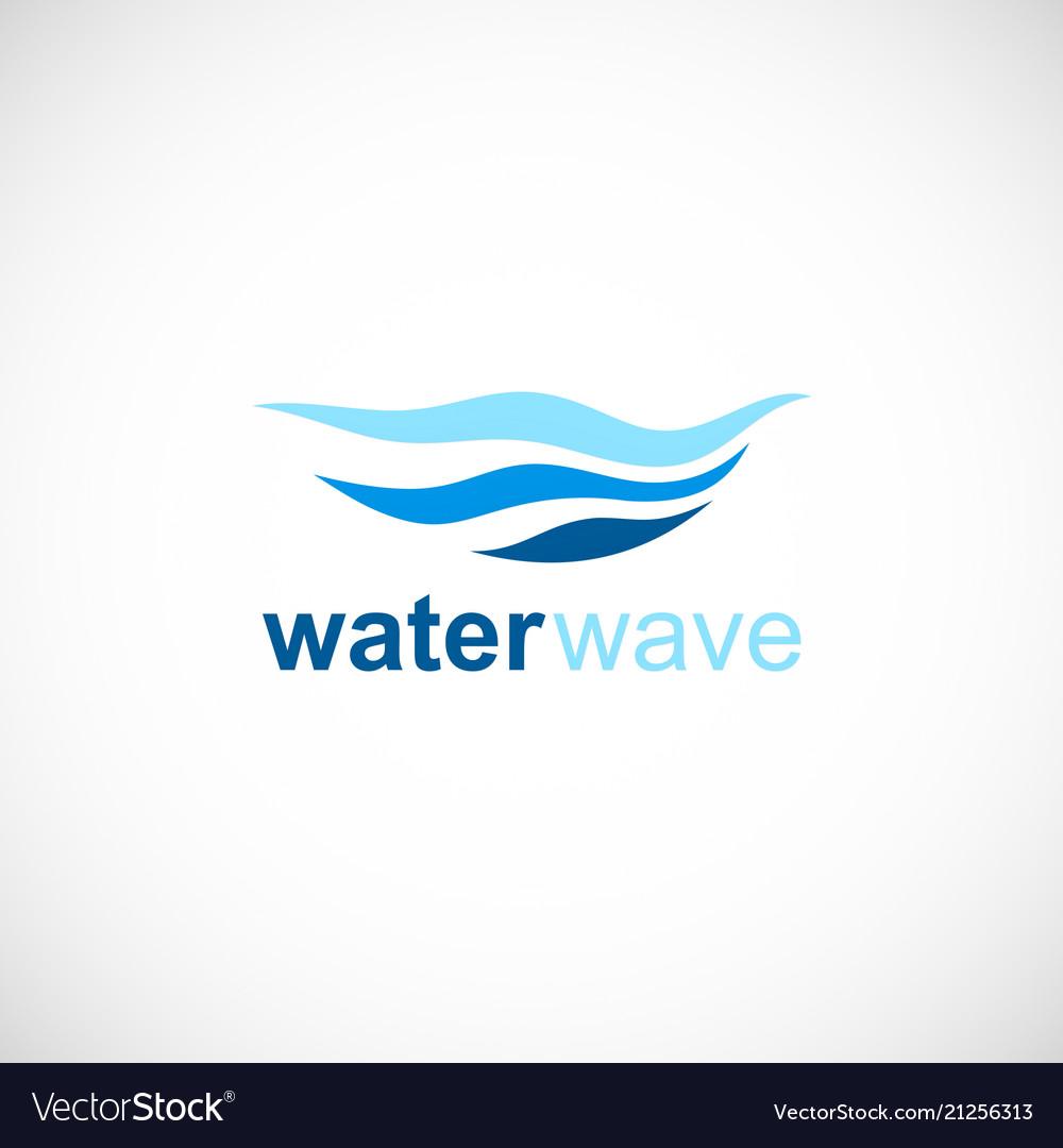Water wave ocean logo