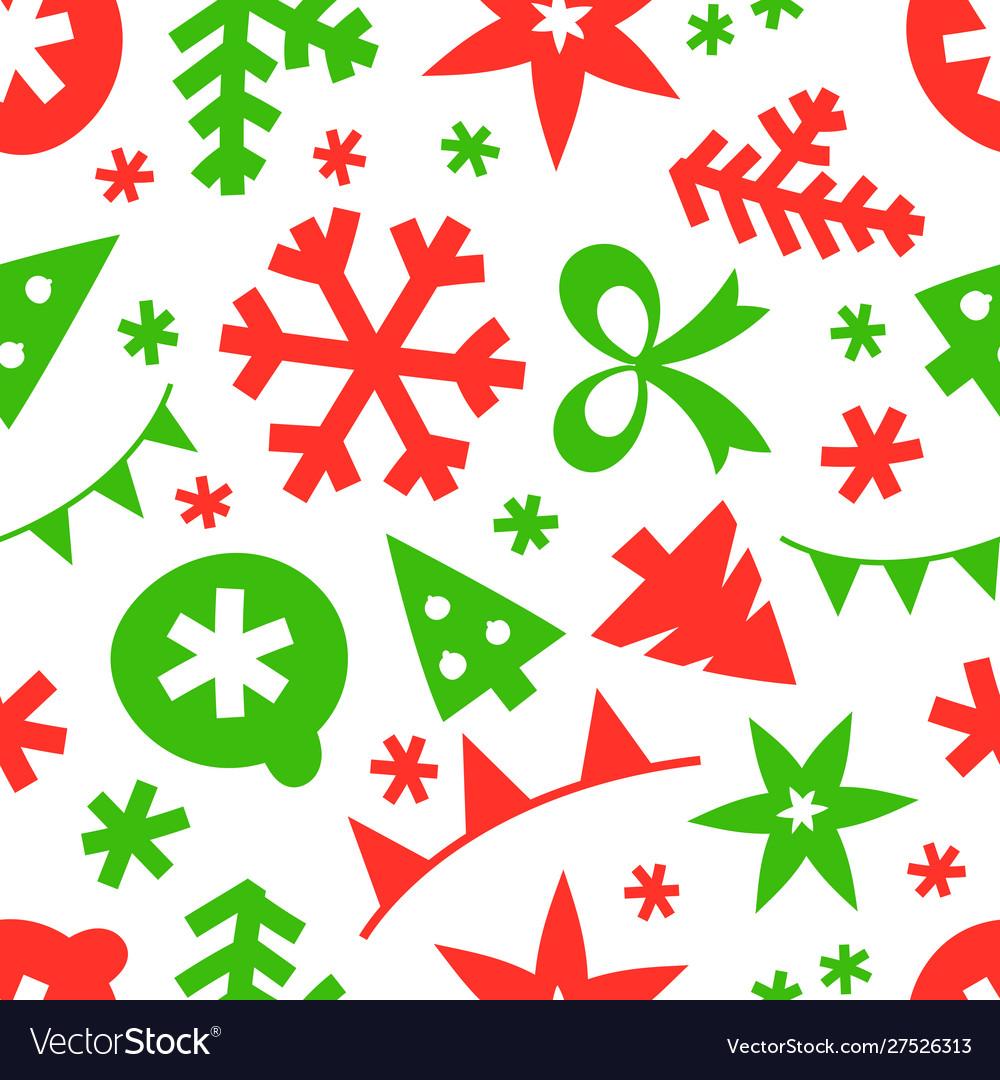 Winter season holidays seamless pattern background