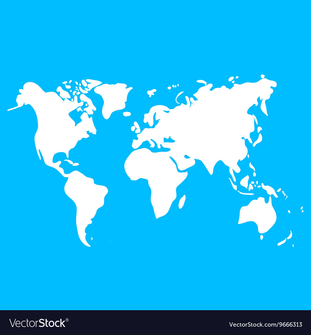 World map on blue background for design