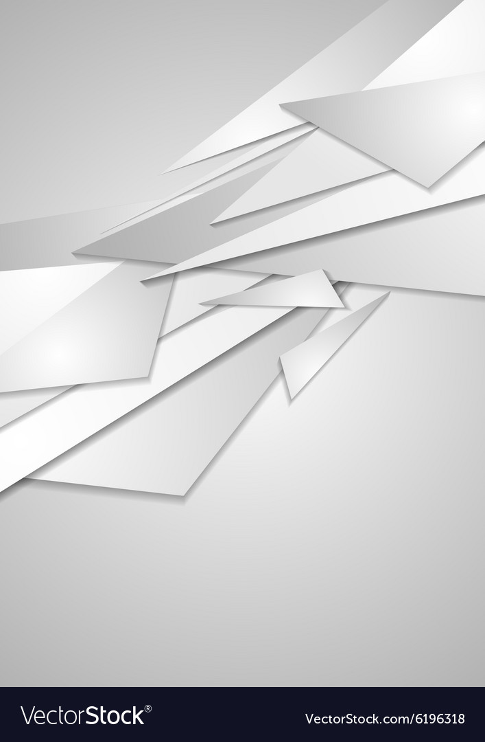 Abstract grey geometric corporate background